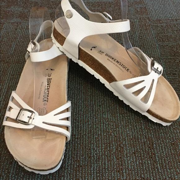 "a38469f4a47 Birkenstock Shoes - White Birkenstock ""Bali"" Ankle Strap Sandals 39N"